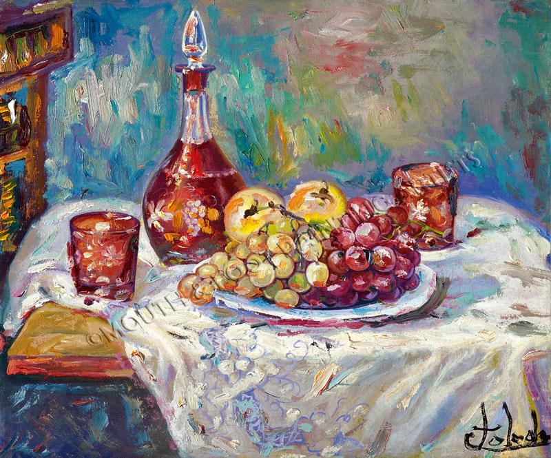 Cristal con uvas
