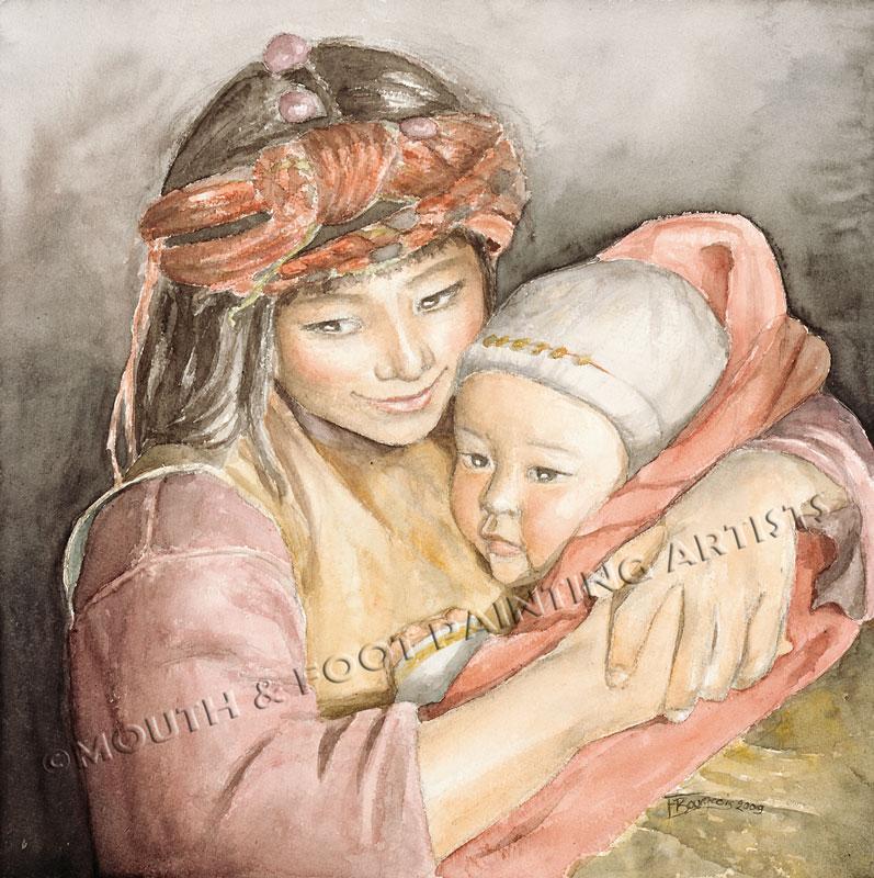 Tibetan Mother & Babe
