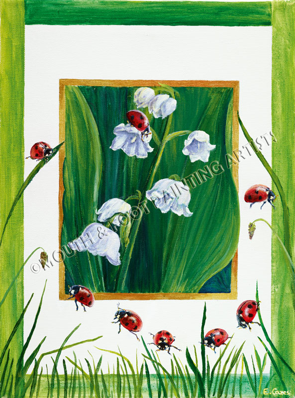 Red Beetles on a Frame