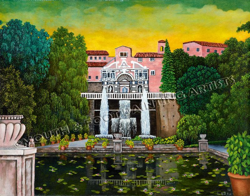 Landscaped Gardens of a Mansion
