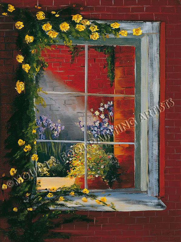 Window Strewn With Roses