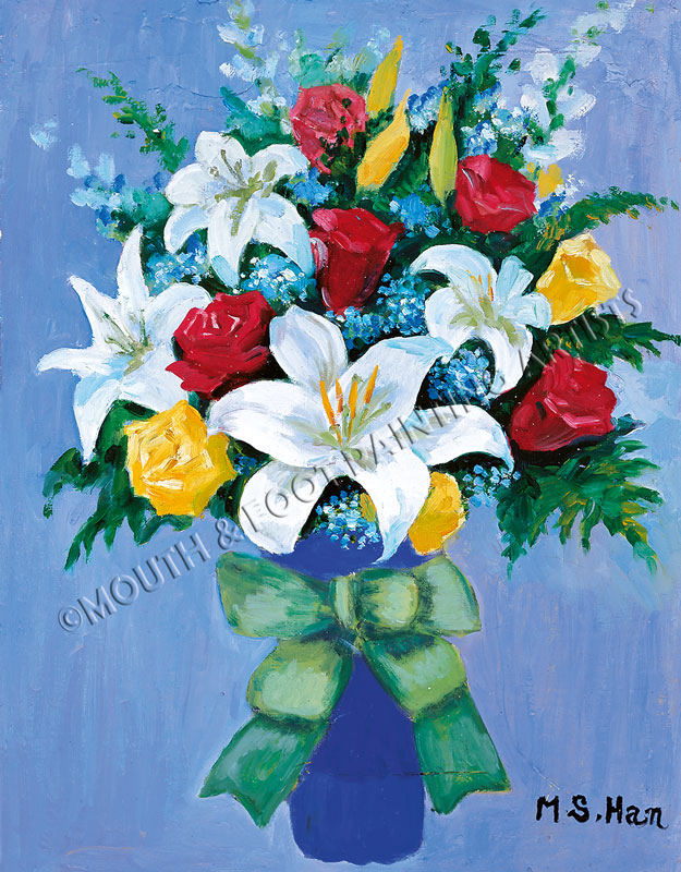 Flowers In A Blue Vase