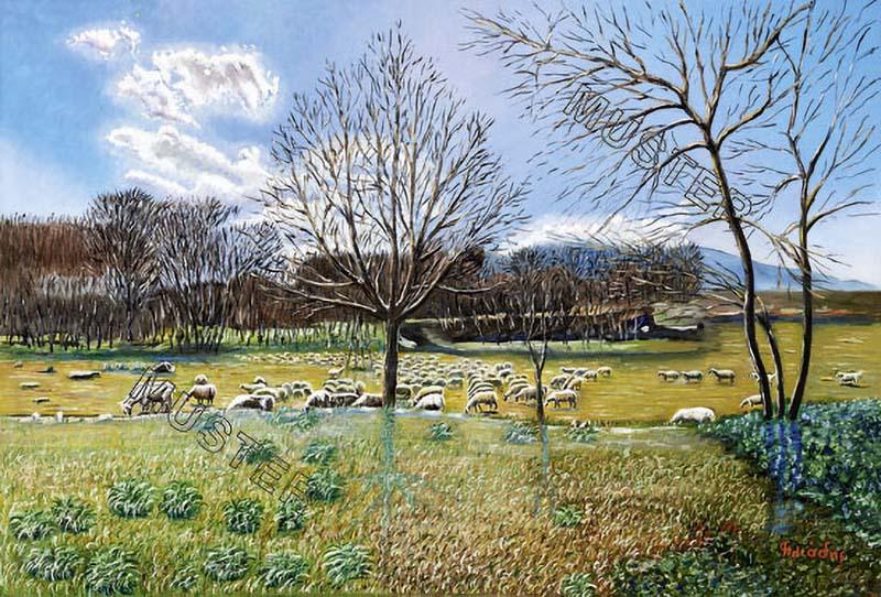 The autumn sheep