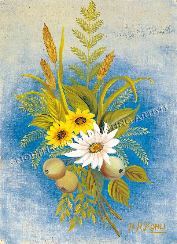 Sprig of Sunflowers