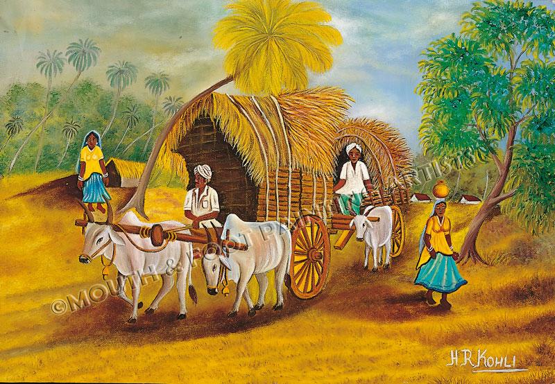 Bullock Carts & the Indian Village
