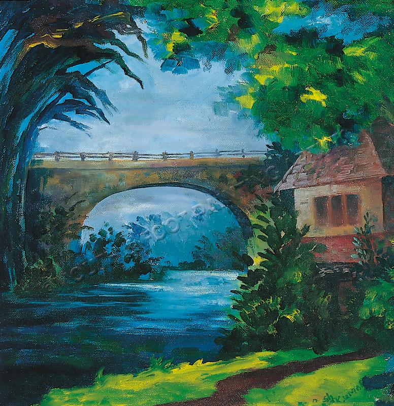Bridge in the Night Sky