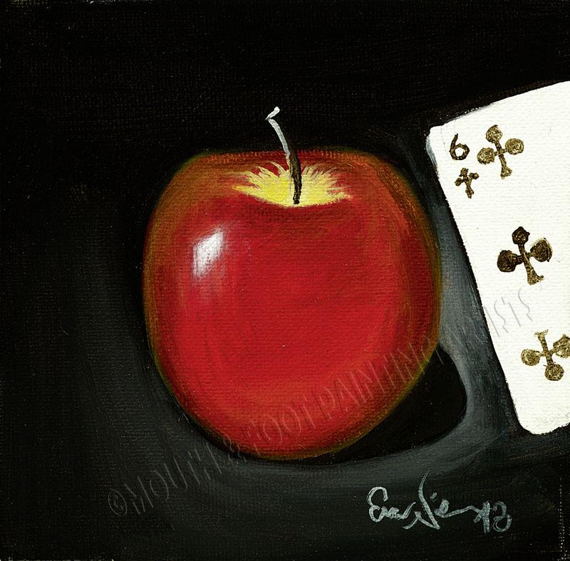Roter Apfel & Pokerkarte