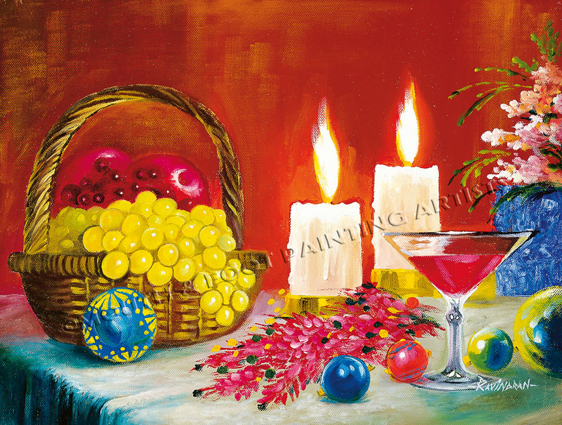 Wine & Fruits by Candlelight