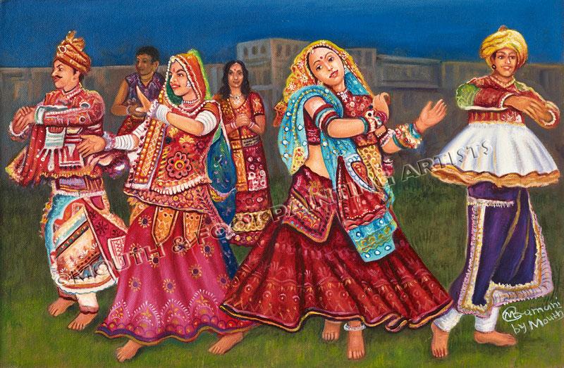 Gujarati Folk Dancers