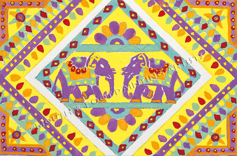 Rangoli of Elephants