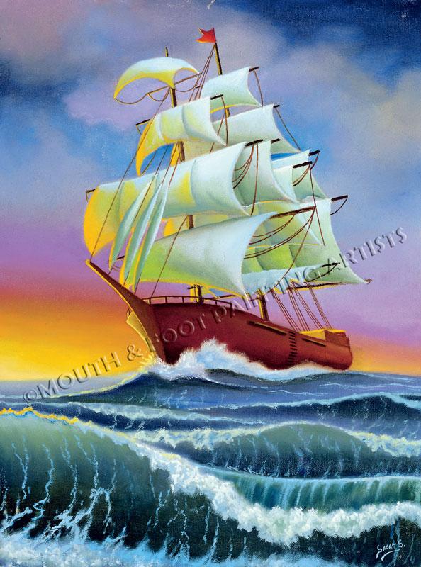 Ship in High Seas