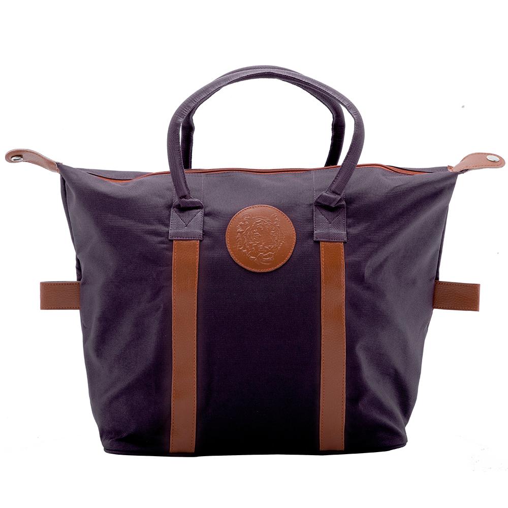 Embossed Shopping Bag – Dark Purple