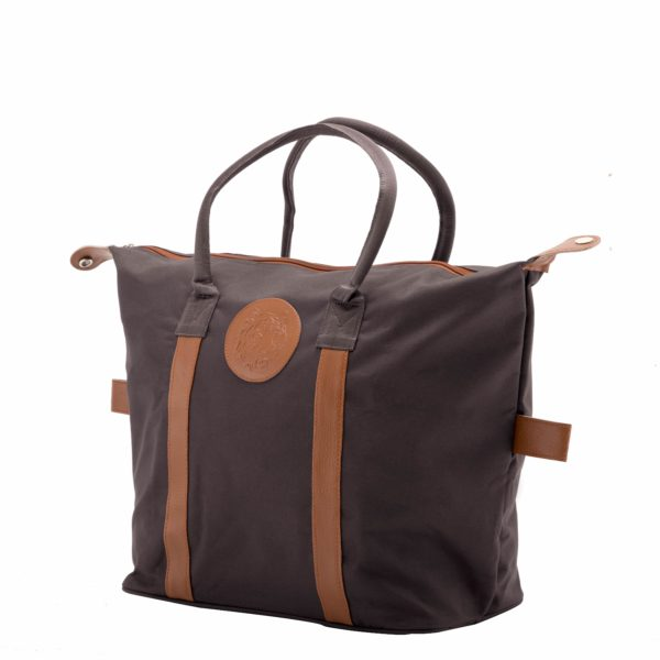 Embossed Shopping Bag – Brown