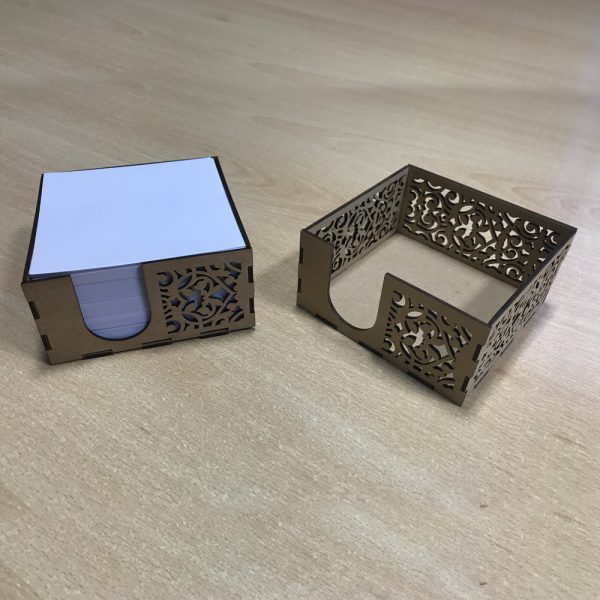 Memo Pad with Cutwork Design Stand