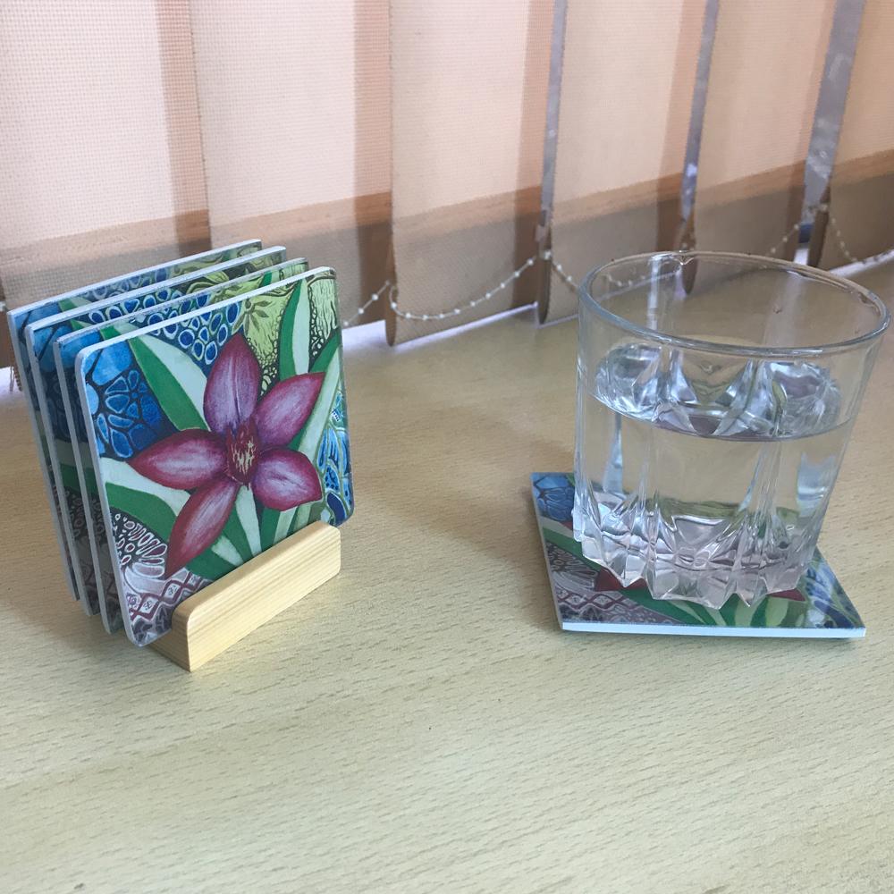 Glass Coasters (Set of 4)