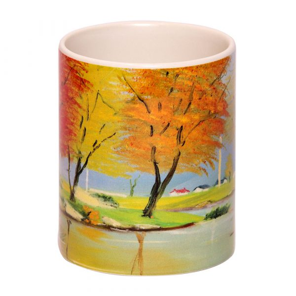 Ceramic Coffee-Tea Mugs by Mouth and Foot Painting Artists
