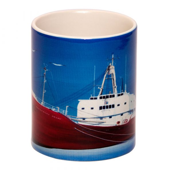 Embossed Mugs by Mouth and Foot Painting Artists