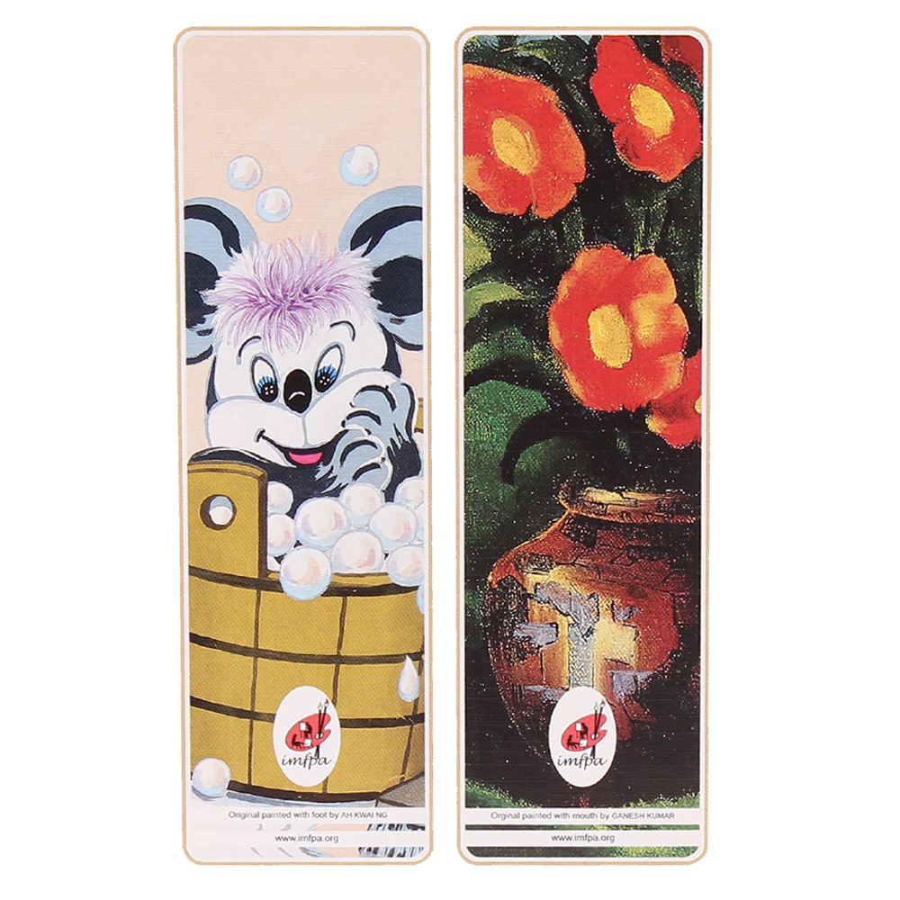 Buy Bookmarks by Mouth and Foot Painting Artists