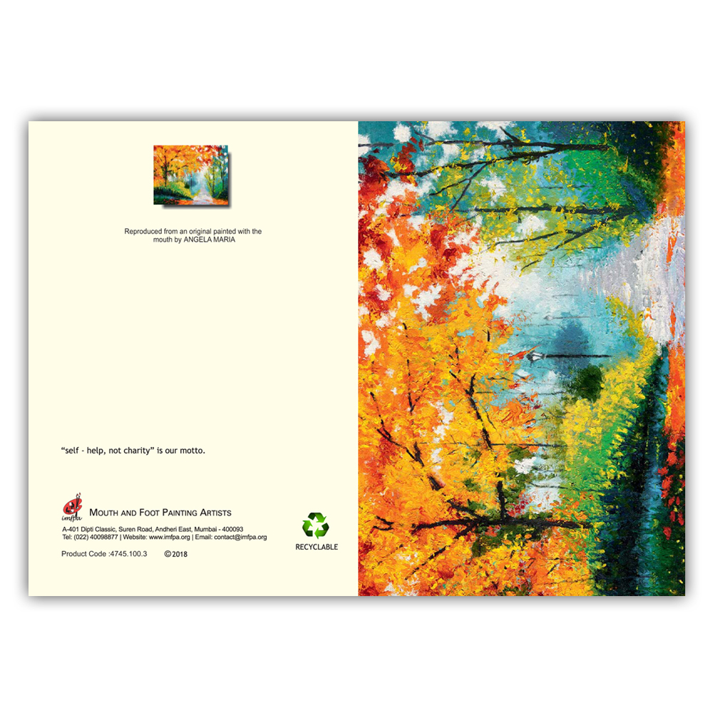 Buy Greeting Cards by Mouth and Foot Painting Artists