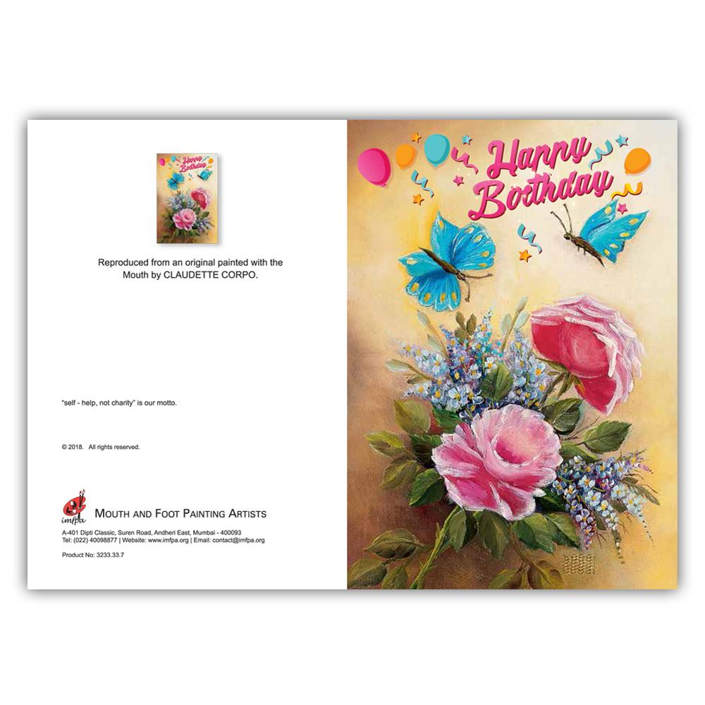 Butterflies & Roses (Set of 5)