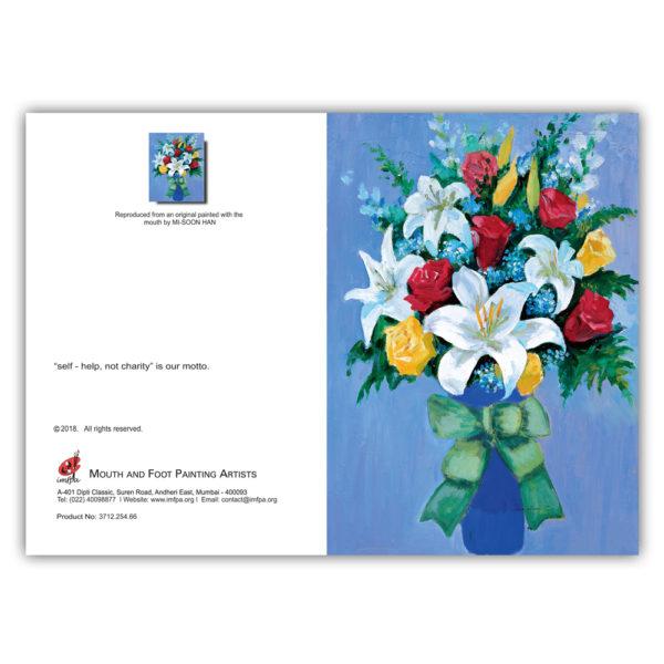 Flowers In A Blue Vase (Set of 5)