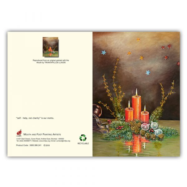 Christmas Cards by Mouth and Foot Painting Artists