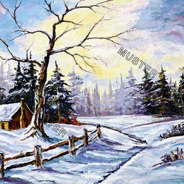 Robuste Baum in Winter-Szene