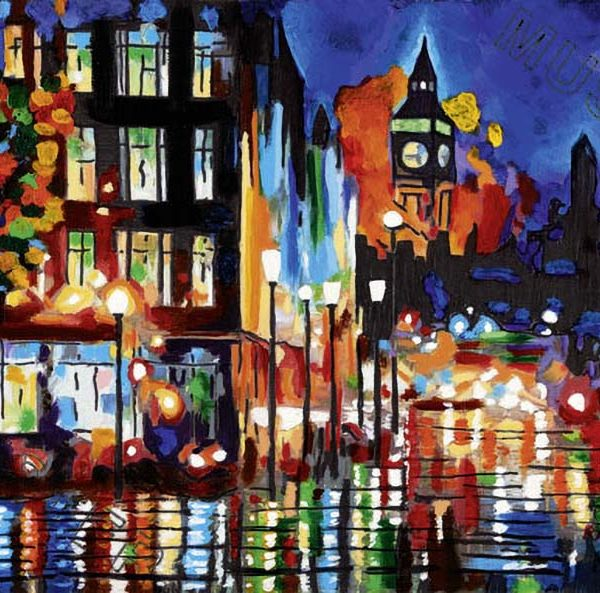 Winter lights – rainy nights