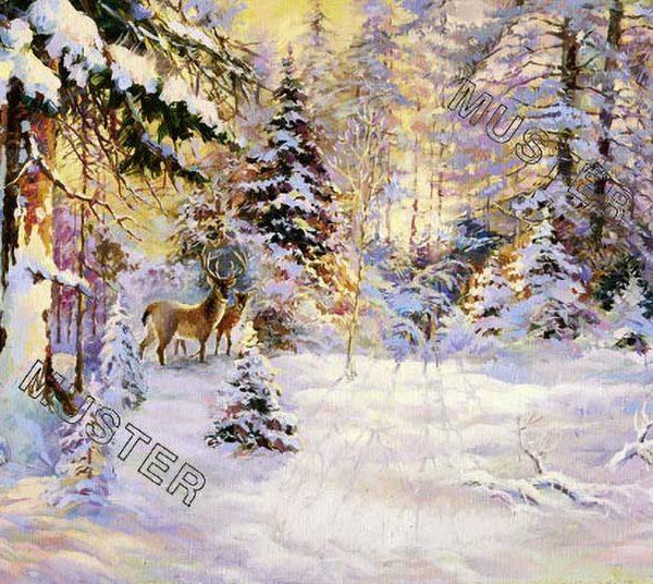 Wildtiere am Waldesrand im Winter
