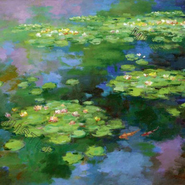 Seeblumen + Fische im Teich