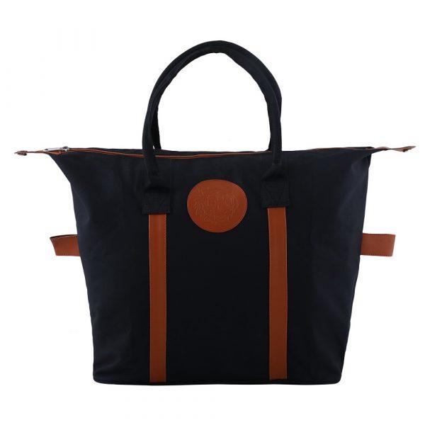 Embossed Shopping Bag – Black