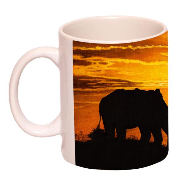 Elephant At Sunset