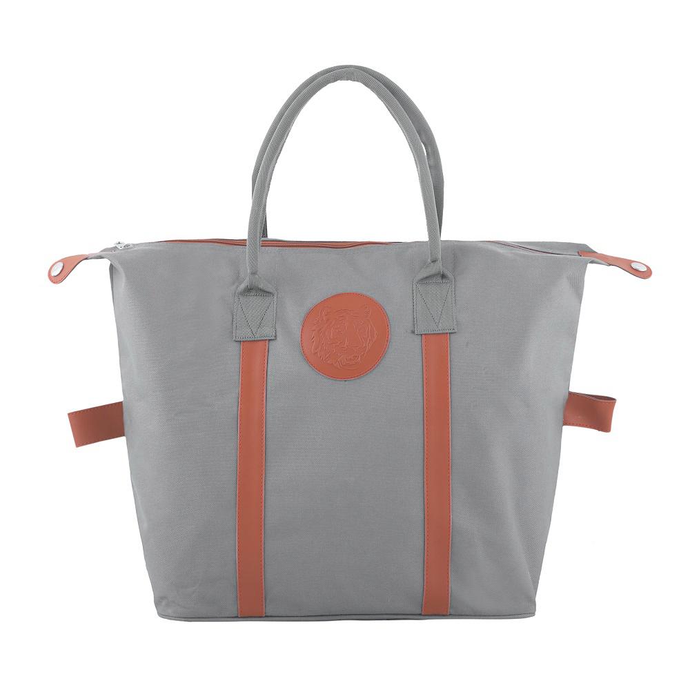 Embossed Shopping Bag – Light Grey